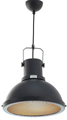 Tuna Pendelleuchte Hängeleuchte - industrielle Pendellampe, Vintage Stil, Retro und Moderne, Küchenlampe, Lampenschirm Aluminium (Anthrazit)