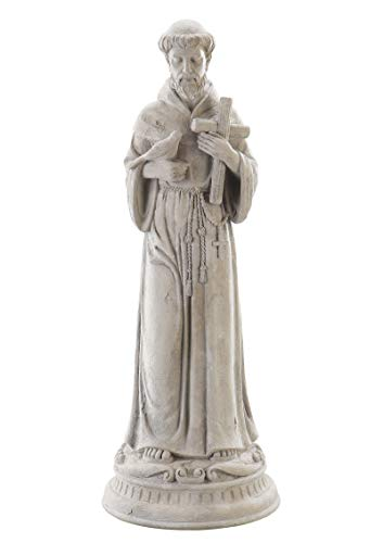 Roman – St. Francis Statue, 24″ H, Garden Collection, Resin and Stone, Decorative, Gift, Home Outdoor and Indoor Decor, Durable, Long Lasting, Unique Design