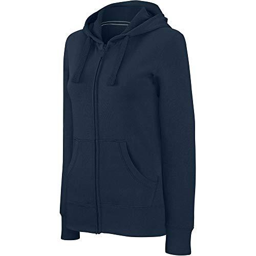 Kariban Sweat-Shirt zippé Capuche Femme - Blanc, S, Femme