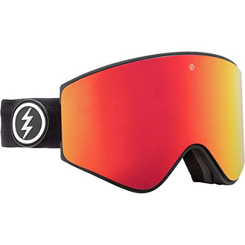 ELECTRIC MASCHERA DA Snowboard EGX Matte Black Lens Brose RED Chrome