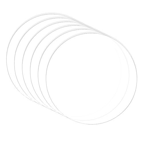 BENECREAT 10枚直径100mm厚さ3mm透明アクリル板 丸アクリルシート 保護紙付き 看板 キーホルダー 置物 展示 クラフト素材 手工芸