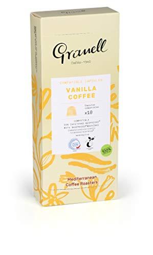 Granell Cafes-1940 - Aromas - Espresso Vainilla | Capsulas Compatibles Nespresso 100% Café Arabica - 10 Cápsulas de Café Compostables