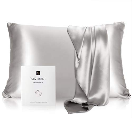 YANIBEST Silk Pillowcase for Hair and Skin - 21 Momme 600...