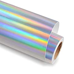 MAGICAL CRAFT VINYL --As the picture we all can know that holographic glossy rainbow silver vinyl is so Magical ,and feeling very dreamy.It is silver but can gradient into rainbow colors under different angles and light.Using this holographic glossy ...