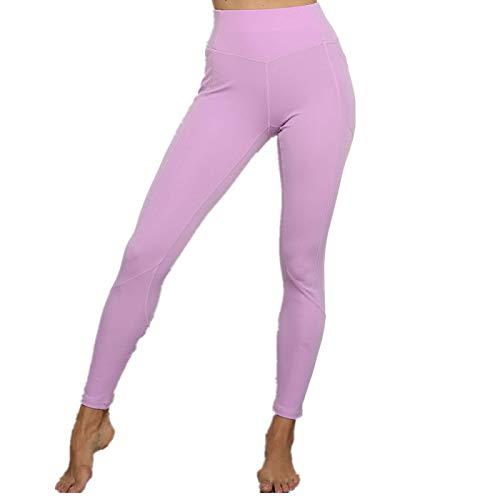 NIGHTMARE Pantalones de Yoga para Mujer con Cintura Alta Control de Abdomen Entrenamiento Correr Estiramiento Leggings de Yoga Medias para Correr para Mujer L