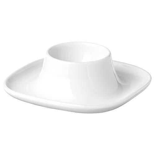 VÄRDERA - Huevera (10 x 3 cm), color blanco