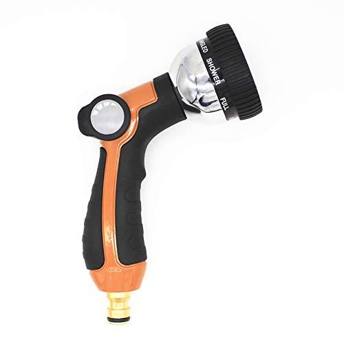 HOMEWO Gartenschlauch-Düsensprühpistole: 8 Einstellbarer Modus Automatische Wassersprühpistole Bewässerung Rasen Pflanzendusche Haustier- und Autowaschanlage,1