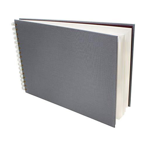 Artway MRKZ-Cuaderno de bocetos multimedia (240 g/m²), Cubierta gris – Papel blanco, A4 Landscape