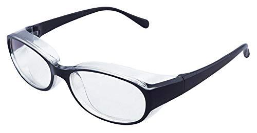 ハック 花粉メガネ プロテクトフィット ブルーライトカット UVカット 大人用 ブラック