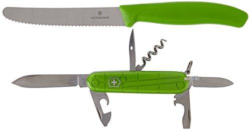 Victorinox Erwachsene Color Twins, grün Taschenwerkzeug, Mehrfarbig, One Size