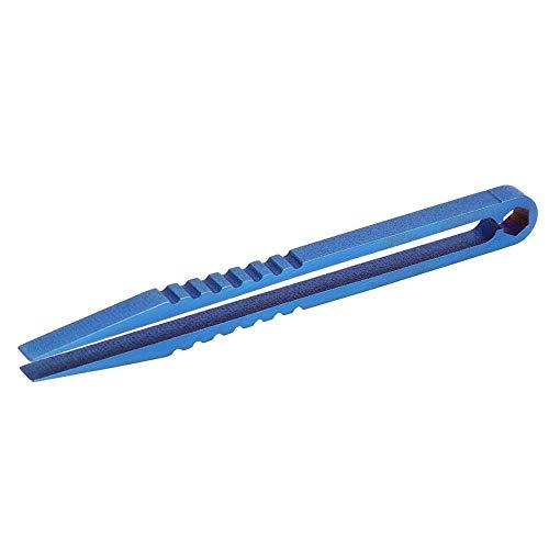 Tweezers Titanium antidérapant, alliage de titane avec alliage de titane Alliage en métal Détérioration de la rouille de rouille pour le camping de voyage en plein air Accueil (Bleu)