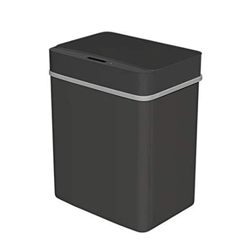 Xihaha Muy útil, Inicio Inicio Inteligente Automático Infrarrojo Infrarrojo Motion Sensor Basura Bandeja de Basura para la Cocina Productos indispensables en la Vida (Color : Black)