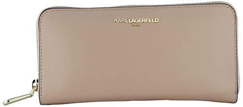 Karl Lagerfeld Paris Women's Zip Around Wallet, Shell, One Size