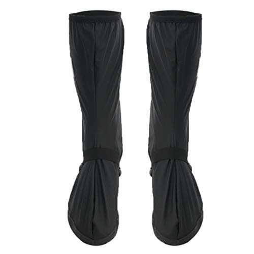 Faltbare Regenüberschuhe Überziehschuhe Schuhüberzieher Überschuhe Regenstiefel Schuhe Abdeckung rutschfest Radsportschuhe - Schwarz, L