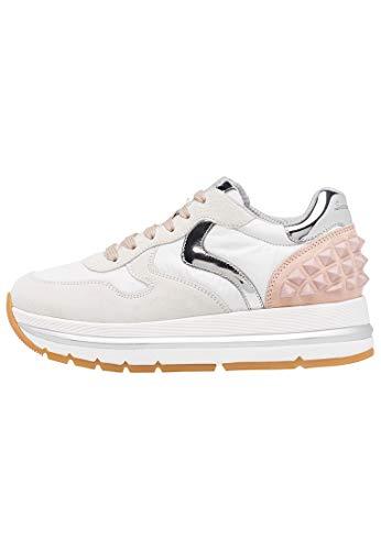 VOILE BLANCHE Maran S-Sneaker in Suede e Tessuto Tecnico Bianco 37