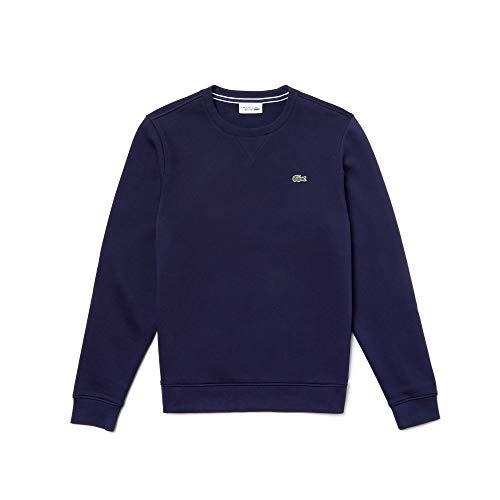LACOSTE maglione scollo a V in color navy blu 100/% Cotone Pullover sweater