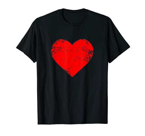Corazón Rojo Original Regalo San Valentín para Hombre Mujer Camiseta