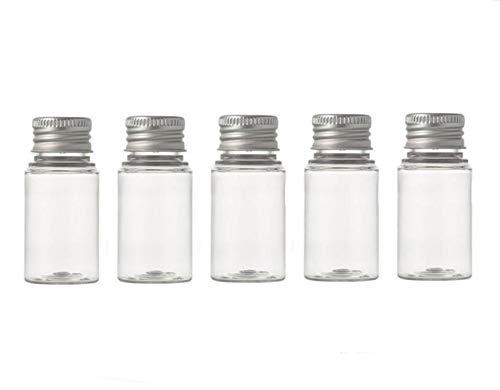 6 unids vacío recargable botella de plástico transparente con tapón de tornillo de aluminio de viaje pequeños contenedores tarros para aceites esenciales en polvo cremas tamaño 30ml/1 oz