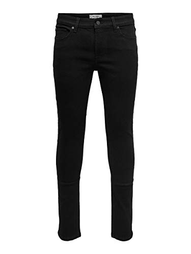ONLY & SONS Herren Skinny Fit Jeans ONSWarp Black 3132Black Denim