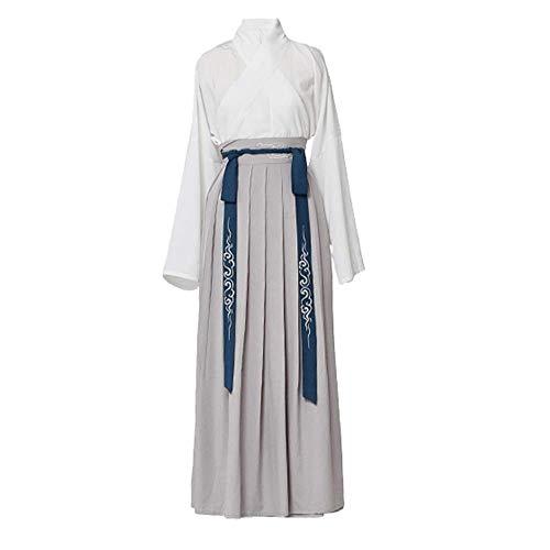 CHUNJIAO traditionele Hanfu jurk Hanfu mannen witte blouse en rok pak Chinese stijl elementen oude kleding mannen Cosplay kostuum Tang pak, Hanfu