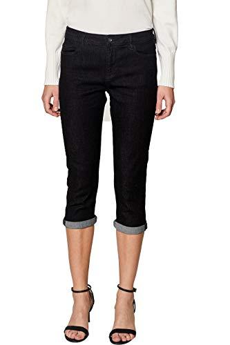 edc by ESPRIT Damen 039CC1B031 Straight Jeans, Schwarz (Black Rinse 910), W27 (Herstellergröße: 27)