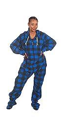 Unisex Footed Adult Onesie One-Piece Pajama Jumpsuit