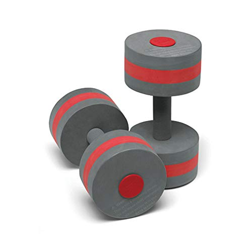 Speedo Aqua Fitness Swim Training Barbells, Charcoal/Red, One Size