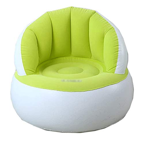 JJZXD Ländlich Stil faules aufblasbares Sofa, Folding Kinder Sofa Wasserdichtes Schlafzimmer Wohnzimmer-Sofa-Stuhl aufblasbare Pumpe (Color : Green)