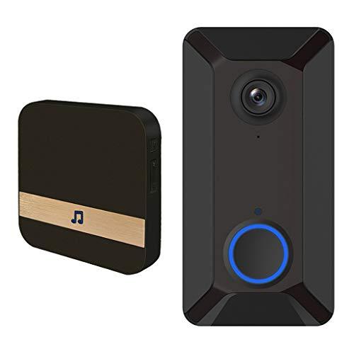 gazechimp V6 Video Porteros Inalambricos WiFi, Timbre Funciona con 2 Baterías 18650, También Puede Usar un Cargador USB de 1A - Con Jingle Machine, 13x7x3cm