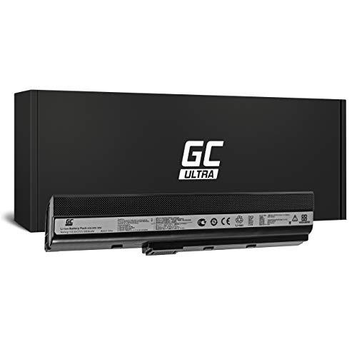 Green Cell Ultra Batería para ASUS X52DR-EX107V X52DR-EX118V X52DY X52F X52J X52JB X52JB-SX015V X52JB-SX034V X52JB-SX104V X52JB-SX135V X52JC X52JC-EX325V Portátil (6800mAh 11.1V Negro)