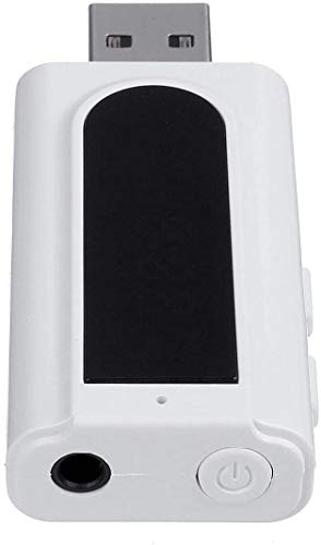 ZW18U PC 1 Perfectamente Bluetooth 5.0 7-en-1 Audio Radio Receptor Adaptador de transmisor Blanco MP3 Player AUX FM Salida TRESFOLD TF USB 3.5mm Jack para TV PC Kit Mecánico Piezas de Repuesto