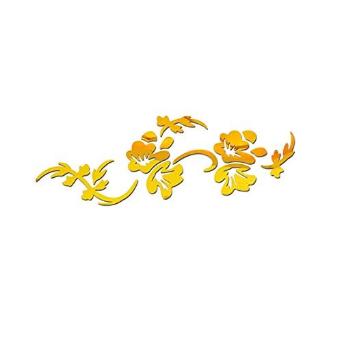 Etiqueta de la pared del arte Pegatinas de pared Fondo Arte Innovador Sala de estar Dormitorio Acrílico Flower Forma Crystal Mirror Decoración del hogar Película protectora para la decoración de la sa