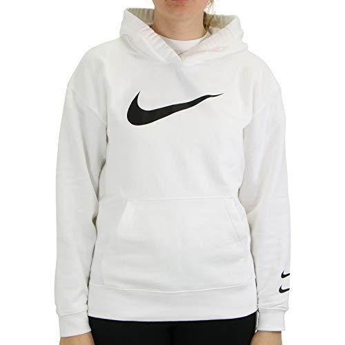 Nike Damen Sweatshirt W NSW SWSH Hoodie FT, White/Black, M, CJ3761