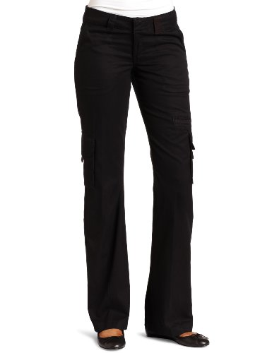 Dickies Women's Relaxed Cargo Pant Rinsed Black 8/Regular