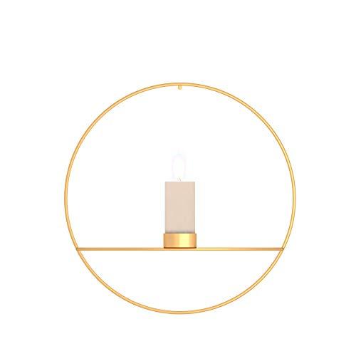 BONMW Kerzenhalter 3D Geometric Modern Style Metall Teelicht Kerzenhalter für hängende Wand Ornamente Partys Events Home Dekorationen Geschenke - Montagezubehör Nicht enthalten