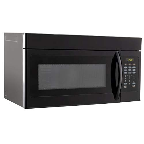 RecPro RV Microwave Over the Range 30'Convection Oven | Black Finish | 120V AC | 900W | Camper Microwave
