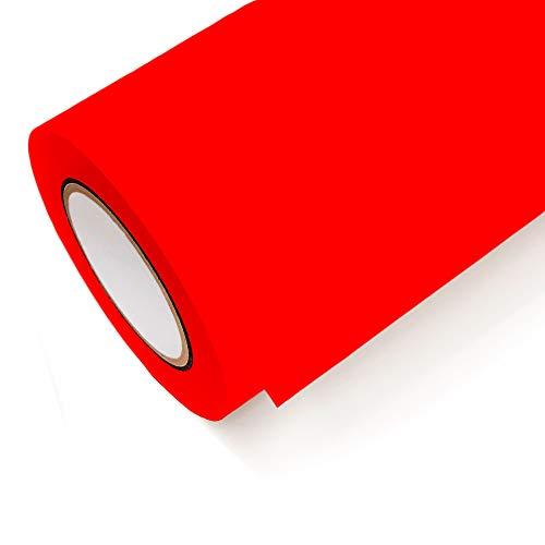 NEON Folie Oracal 6510 Fluorescent Cast - Klebefolie Möbel Folie Deko Folie Autofolie - Farbe Neon Rot - 039 - Breite 1m - Rollenlänge 1m