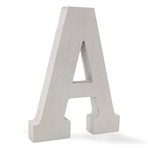 Crack Hogar Letra de Madera Lisa - 15x2,5x20 cm - Disponible el Alfabeto Completo - Ideal para Decoración - Letra Decorativa con Gancho Trasero para Colgar