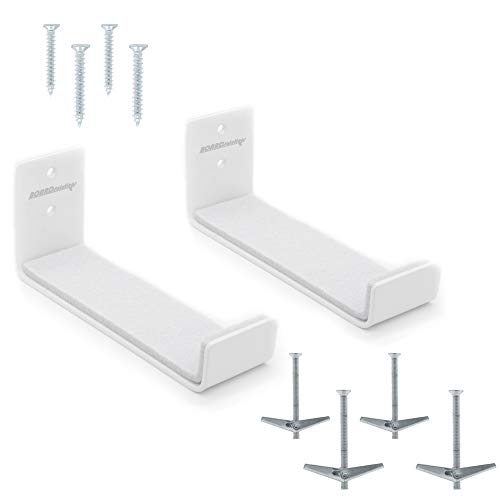 Board Solutions Surfboard Wall Mount - White Aluminum Board Racks Compatible with Small SUP/Paddle Board Rack, Snowboard Wall Mount, Kneeboard Rack, Skateboard Wall Mount Surf & Beach House Decor