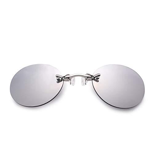 Gafas de sol polarizadas unisex con clip, estilo de clip con almohadilla de nariz ajustable y cómoda sin montura para esquí, deportes, ciclismo, correr