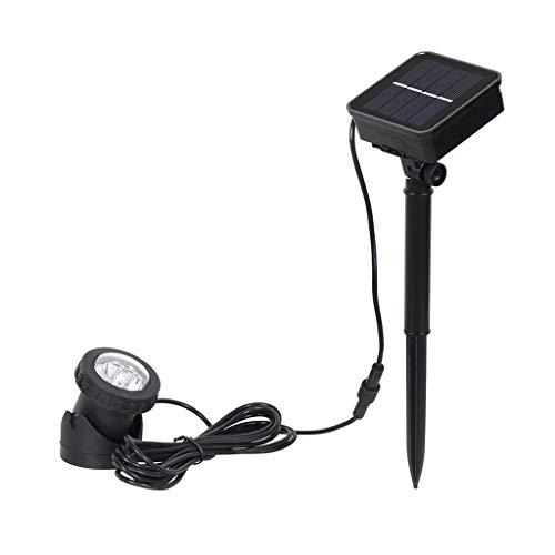 qingqingR Luz Solar LED Lámpara Sumergible Proyector Proyector subacuático Impermeable para jardín Piscina Fuentes Estanque Acuario de Agua