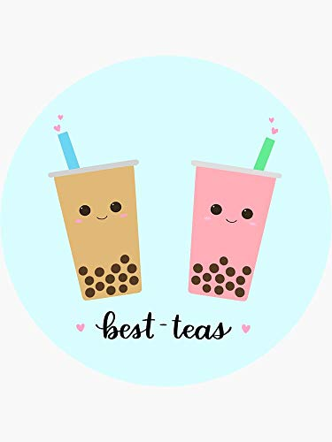 Bubble Tea Best-Teas Sticker - Sticker Graphic -Stickers for Hydroflask Water Bottles Laptop Computer Skateboard, Waterproof Decal Stickers
