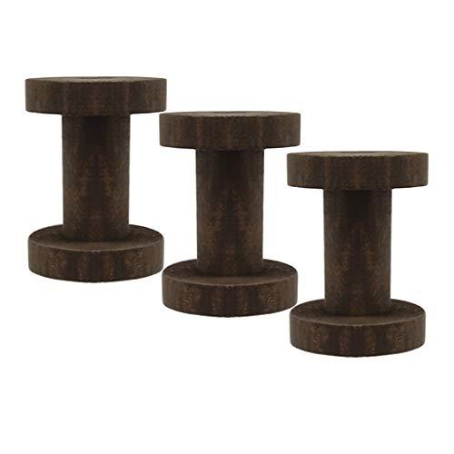 F Fityle 3 Pack Leere Holzspule Fadenspule Naturholz