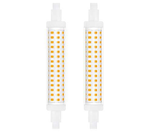 Bonlux R7s 118mm Ampoule LED, 15W Double Extrémité Lampe Linéaire J118 220V 1300 Lumen équivalent 130W Halogène Blanc Naturel 4000K pour Projecteur, Lampadaire, Salon, Jardin(Non-Dimmable, lot de 2)