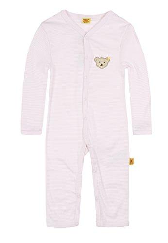 Steiff Unisex - Baby Strampler/Schlafanzug, gestreift 0006631, Gr. 74, Rosa (2560)
