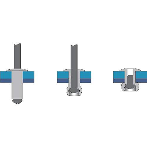 Remache aluminio minicaja 50pcs 4,8X12 Bralo S1010004812