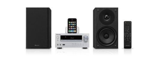Pioneer X-HM50-S Kompaktanlage (CD/MP3-Player, FM mit RDS, Apple iPod Dock,100 Watt, USB 2.0) silber