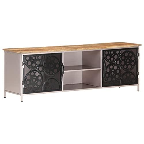 FAMIROSA Mueble para TV de Madera de Mango Rugosa 120x30x40 cm-3737