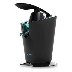 Cecotec Zitrus 160 Vita Black – Exprimidor Eléctrico, Filtro de Acero Inoxidable y 2 Conos Desmontables, Sistema de Extracción Continua, 160 W de Potencia, Negro