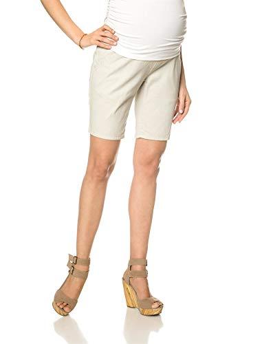 Motherhood Secret Fit Belly Khaki Maternity Bermuda Shorts